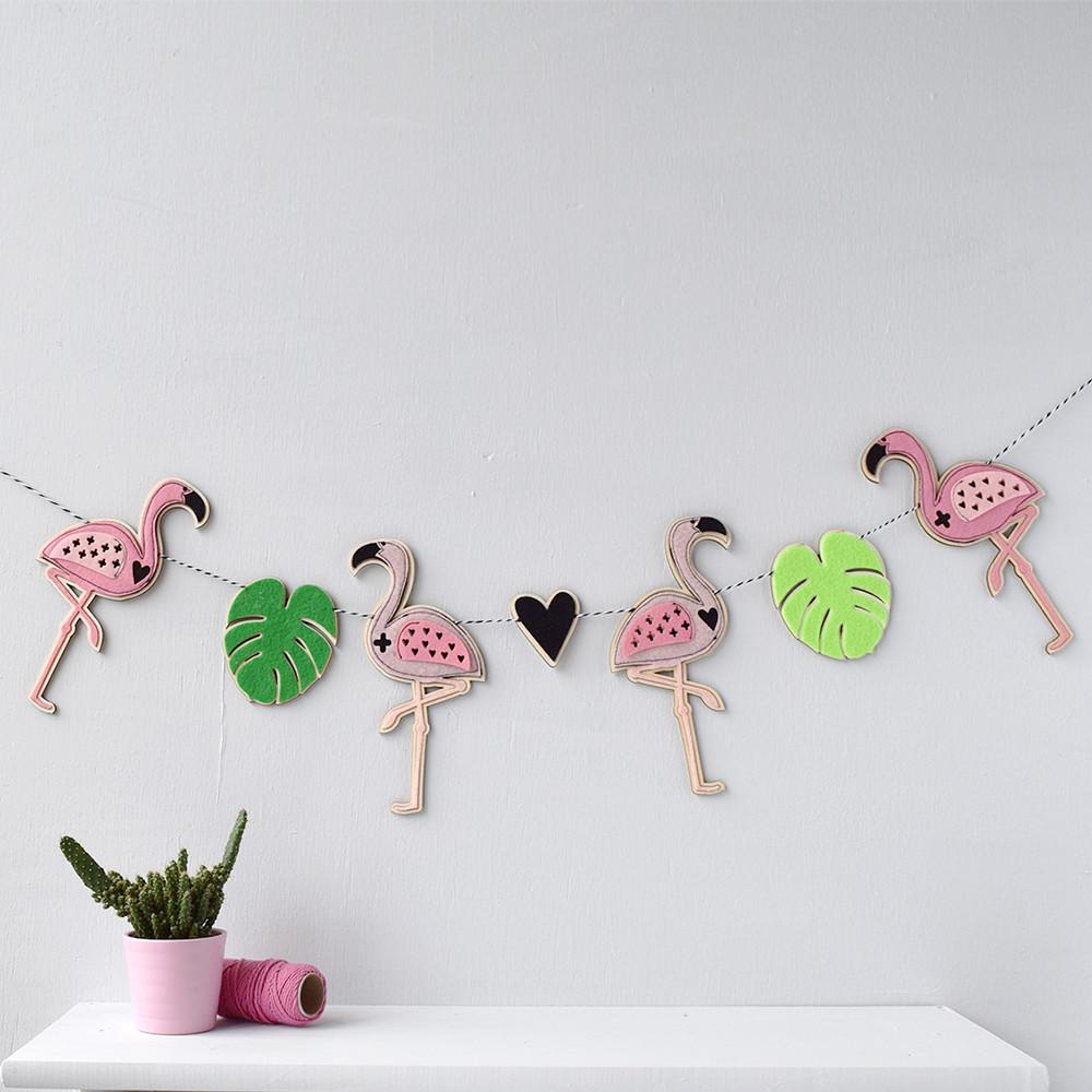 Flamingo Garland by House of Hooray