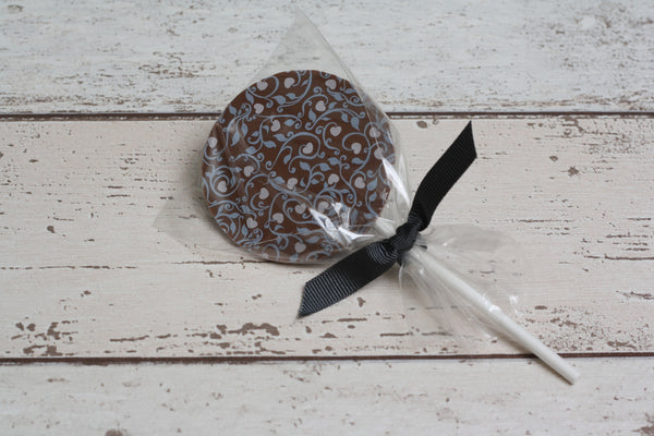 Zara's Chocolates floral chocolate lolly from The Ovi and Reu Country Collection gift box for new mums and babies. Available from Wonder of Kin - Curating Independent Brands.