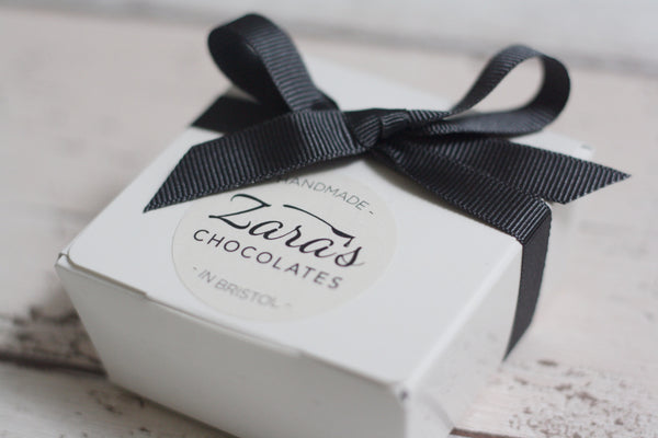 Zara's Chocolates mixed truffles from The Ovi and Reu Expectant Collection boutique gift box for mums with a bump. Available from Wonder of Kin - Curating Independent Brands.