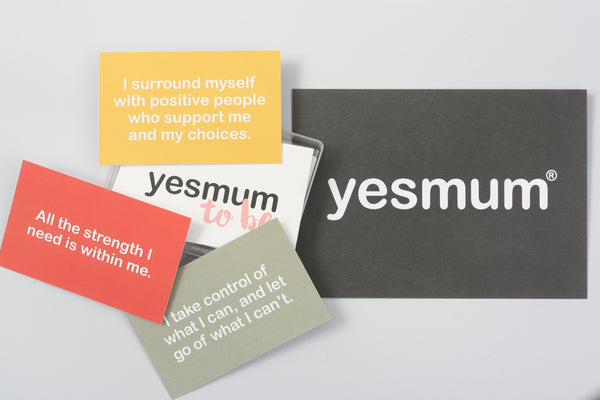 Yes Mum To Be Affirmation Cards. Available from Wonder of Kin - Curating Independent Brands.