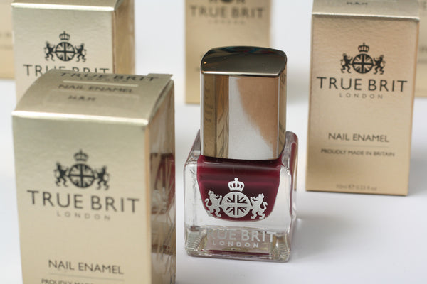 True Brit nail varnish from The Ovi and Reu Expectant Collection boutique gift box for mums with a bump. Available from Wonder of Kin - Curating Independent Brands.