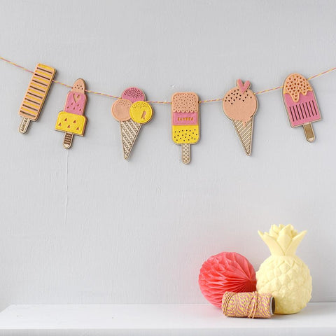 Personalised Ice Cream & Lolly Garland