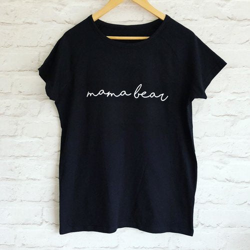 Black T Shirt with personalised name by Whoopsie Daisie available at Wonder of Kin - Curating Indie Brands.
