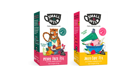 Jolly Croc & Merry Tiger Herbal Teas for Kids by Small & Wild