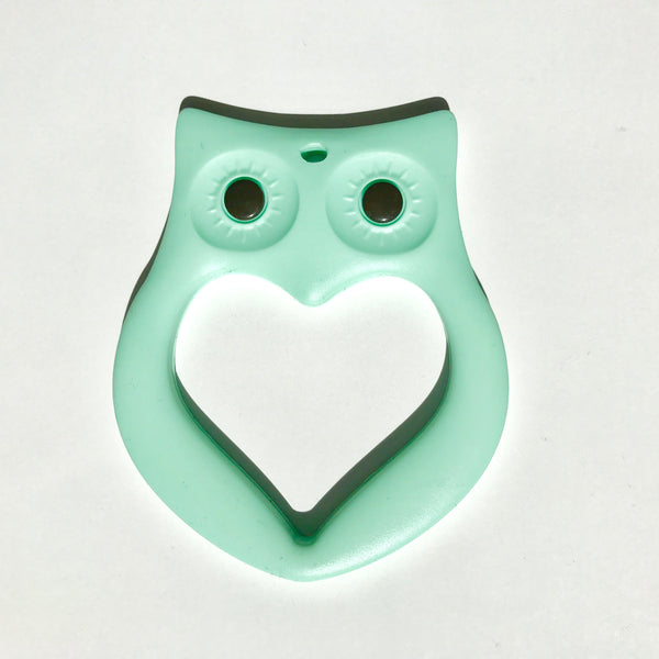 Owl shaped baby safe teether from Mama Knows. Available from Wonder of Kin - Curating Independent Brands