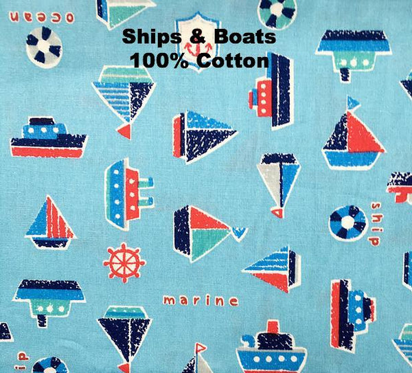 Fabric options for children's summer nighties by Thimble London available at Wonder of Kin. 100% Cotton.