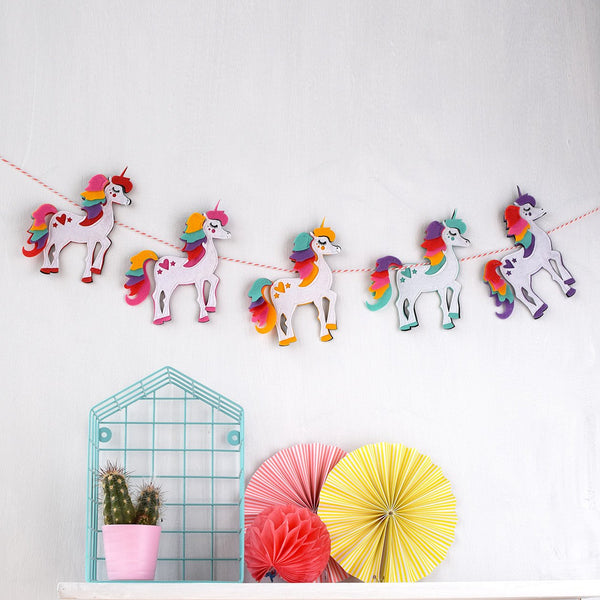 Unicorn garland by House of Hooray available at Wonder of Kin - Curating Independent Brands