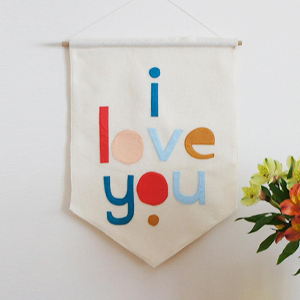 I Love You Felt Banner by House of Hooray