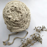 Beautiful Heirloom Bonnet by Esme Grace - the perfect newborn present or christening gift available at Wonder of Kin online store.