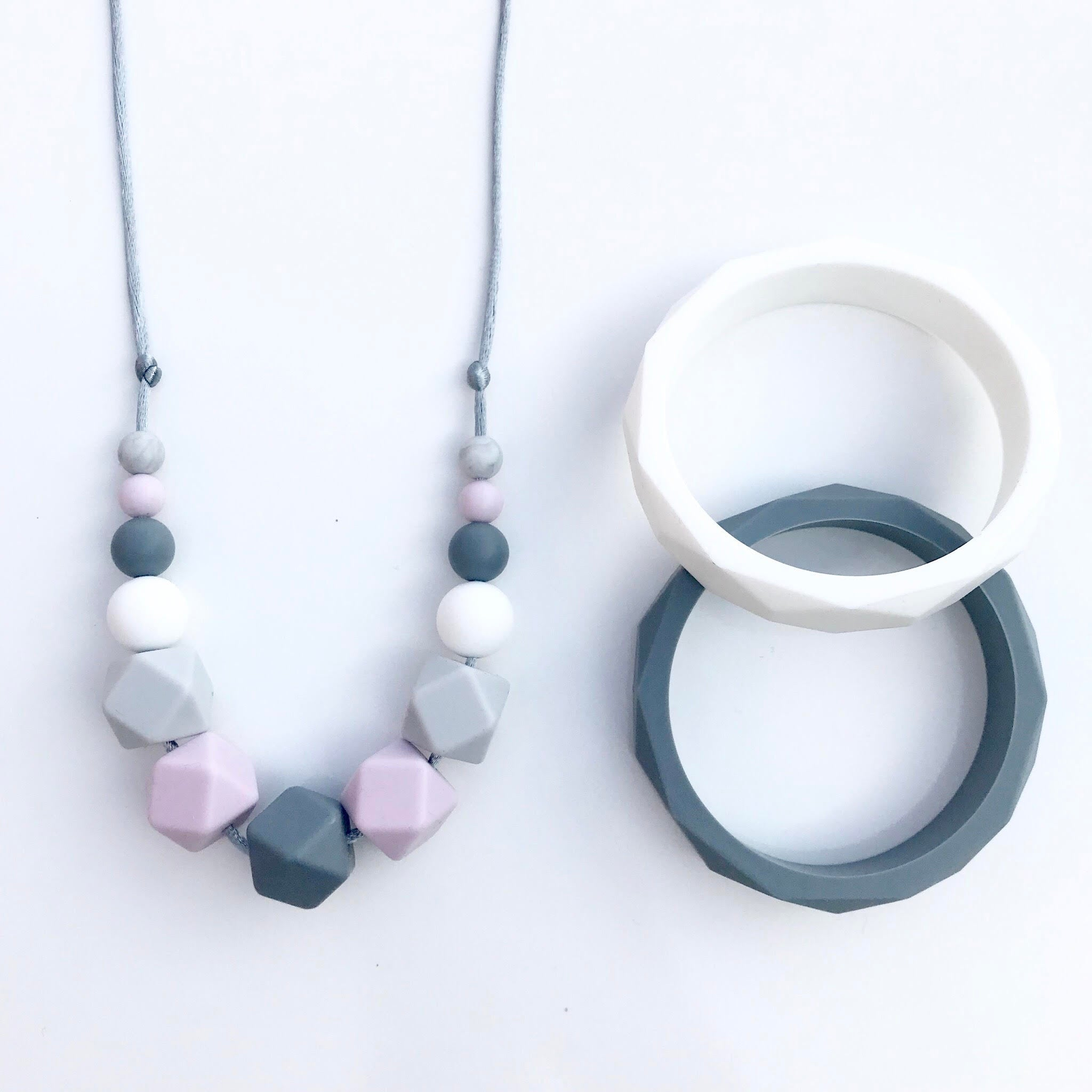 Iris teething necklace by Mama Knows available at Wonder of Kin with free shipping.