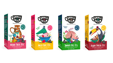 Set of all 4 Herbal Teas by Small & Wild