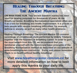 Healing Through Breathing: The Ancient Mantra Inside Cover