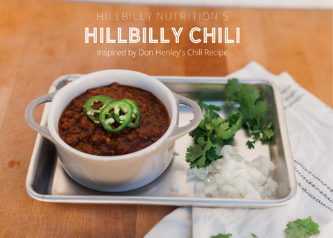 Hillbilly Nutrition's Hillbilly Chili
