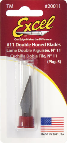 Excel Carded #11 Double Hones Blade - 5 pcs.