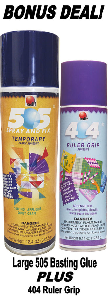 Large 505 Basting Glue and 404 Ruler Grip Adhesive