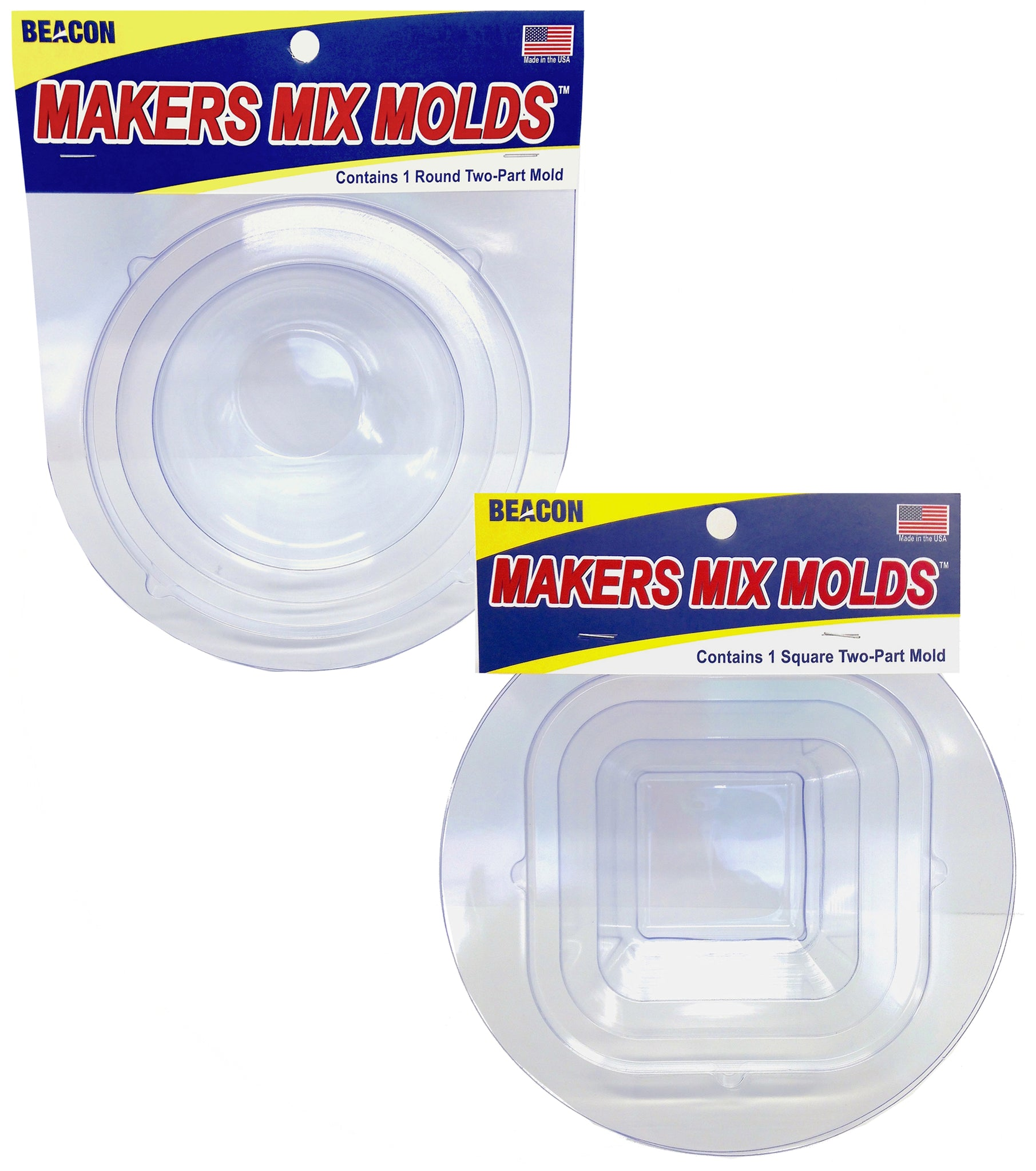 Makers Mix Molds-Round and Square Combo