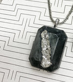 Makers Mix Concrete Jewelry and Druzy Kit silver pendant