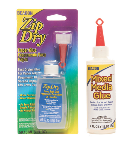 Zip Dry 2oz and Mixed Media 4oz; The Scrapbook Combo