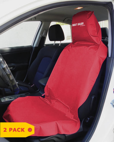 SEAT-SAVER Car Seat Waterproof Cover - Red 2 Pack