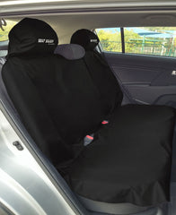 SEAT-SAVER Car Seat Waterproof Cover - Back Seat Black