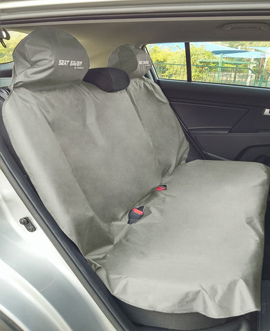 SEAT-SAVER Car Seat Waterproof Cover - Back Seat Grey