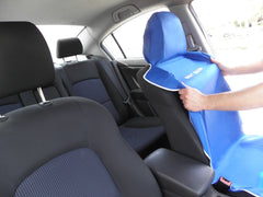 SEAT-SAVER Car Seat Waterproof Cover - Blue 2 Pack