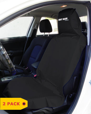 SEAT-SAVER Car Seat Waterproof Cover - Black 2 Pack