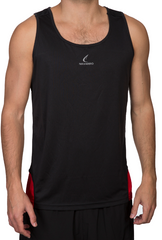 Men's Running/Gym Tank-Top Black/Red