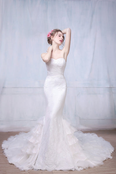 Flamenco Inspired Wedding Dress with ruffles