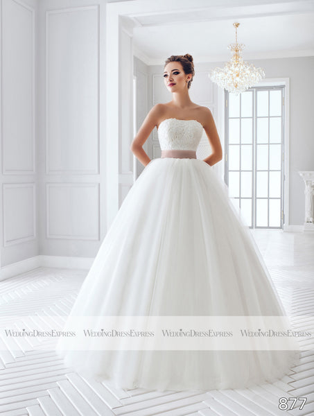 Ballgown Wedding Dress with lace bodice