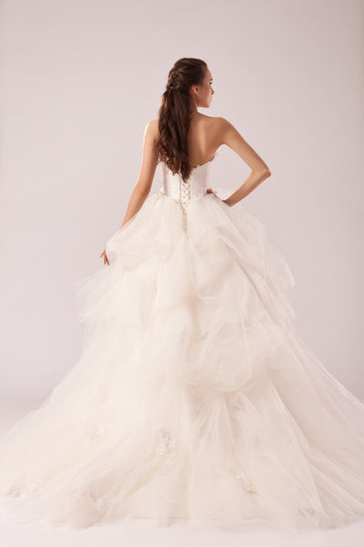 Lace and Tulle Ball Gown Wedding Dress inspired by Vera