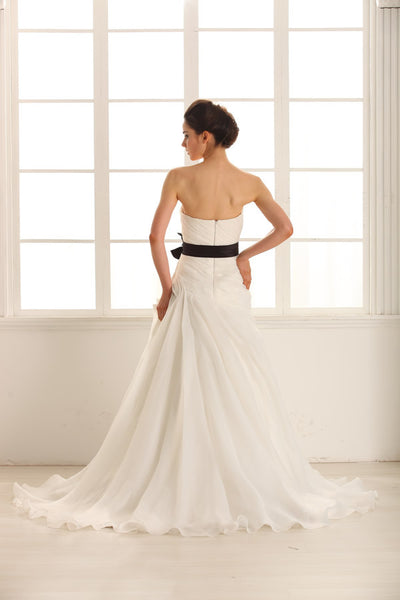 Strapless A Line Wedding Dress inspired by Vera