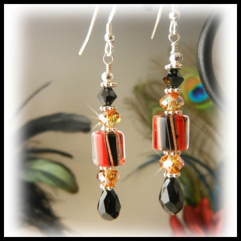 Fireglow, Earrings, Jewelry By Renee - Jewelry By Renee