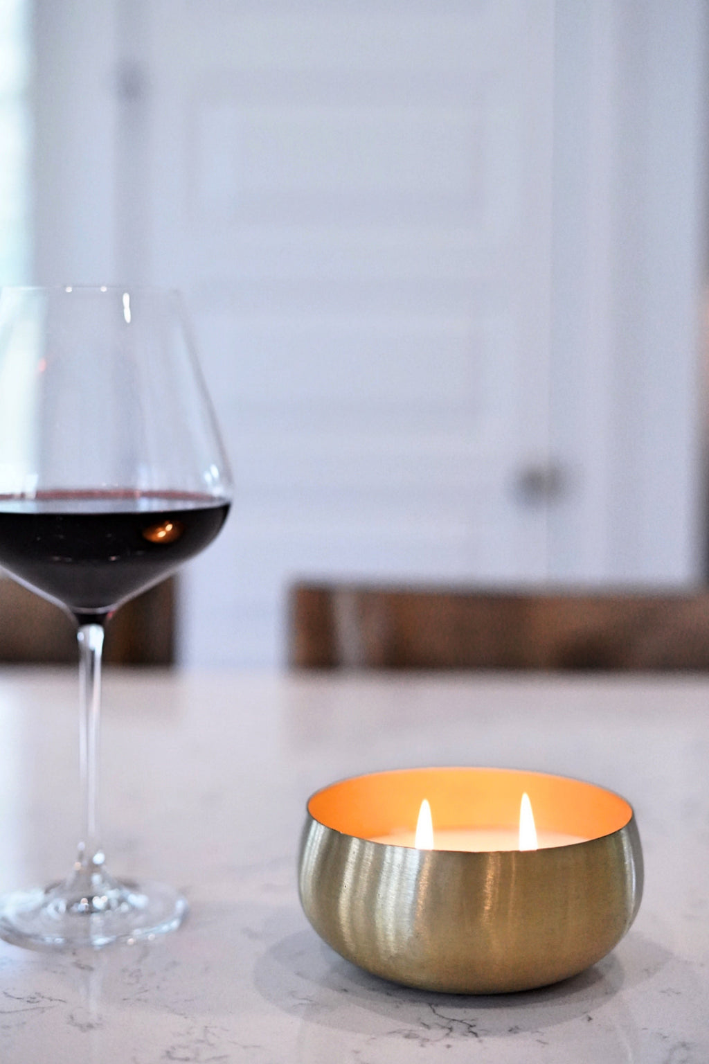 Pinot Noir Small Gold Bowl 14 oz Candle