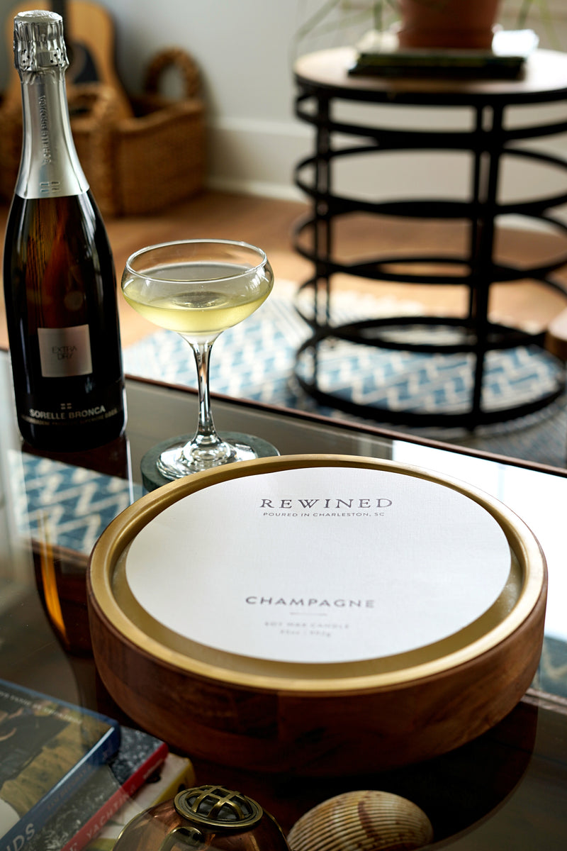 Champagne Round Tray Barrel Aged Candle