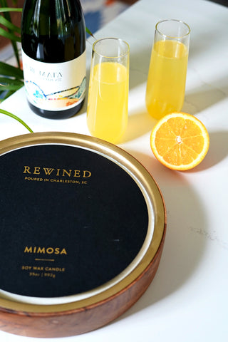 Mimosa Large Double Wick Barrel Aged Candle