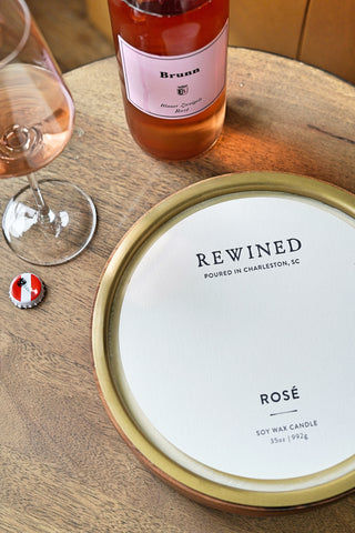 Rosé Large Double Wick Barrel Aged Candle