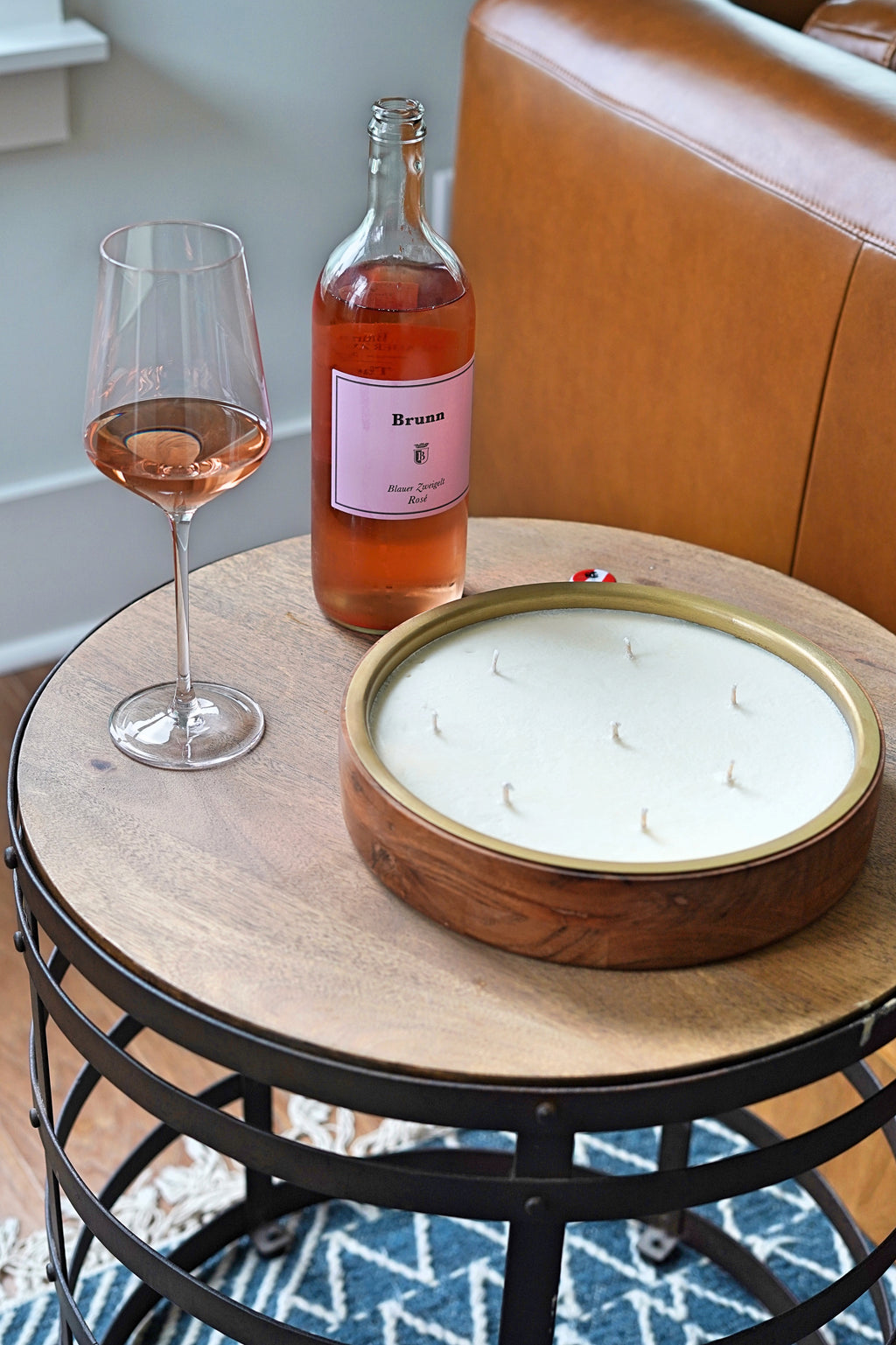Rosé Round Tray Barrel Aged Candle