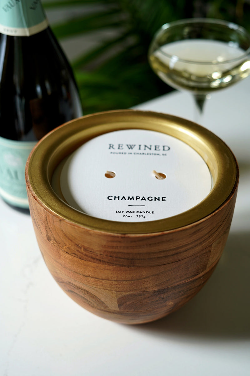 Champagne Large Double Wick Barrel Aged Candle