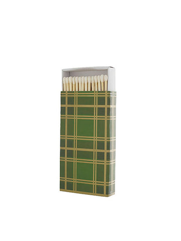 Green Plaid Matchbox