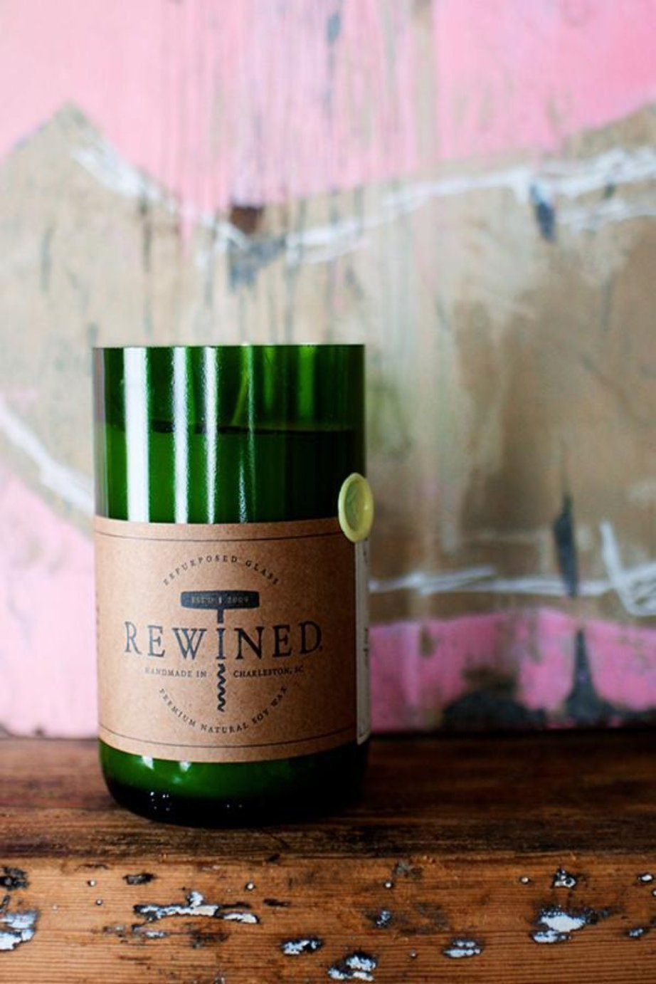 The Original Rewined Candle Chardonnay Scented Shop Rewined