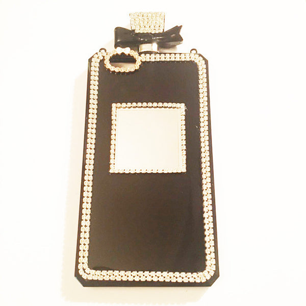 Black Diamond Encrusted Perfume Bottle Case w/ Detachable Chain (iPhone 6/6s)