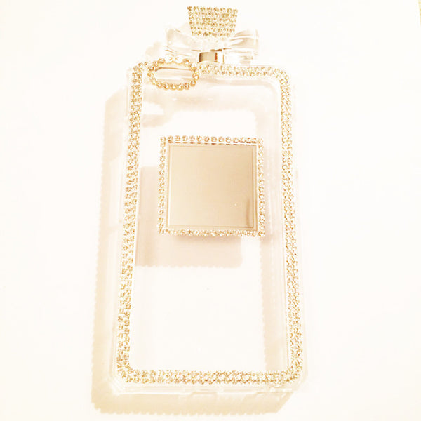 Clear Diamond Encrusted Perfume Bottle Case w/ Detachable Chain (iPhone 6/6s)