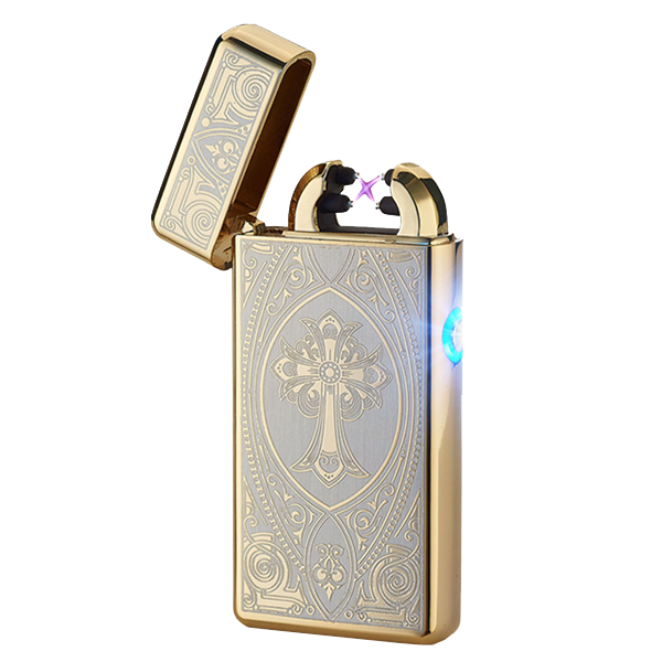 Gold Cross Rechargeable Windproof Lighter