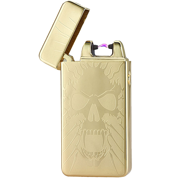 Golden Skull Rechargeable Windproof Lighter