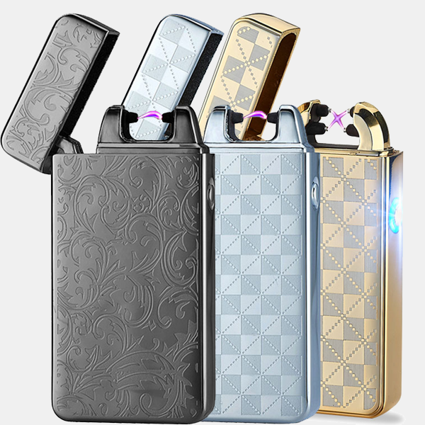 Flameless Lighter Standard Kit includes a collection of 3 Standard Flameless Rechargeable Lighters