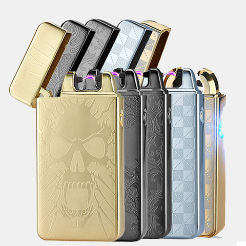 Flameless Lighter Mini Kit includes a collection of 5 Standard Flameless Rechargeable Lighters