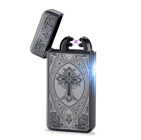 Black Cross Rechargeable Windproof Lighter