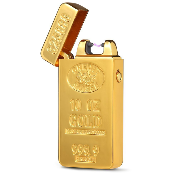 Gold Brick Rechargeable Windproof Lighter