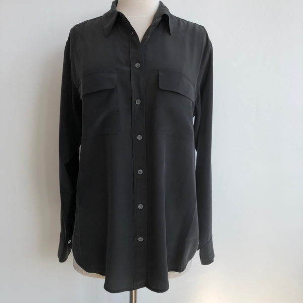 Equipment NWT Signature Silk Black